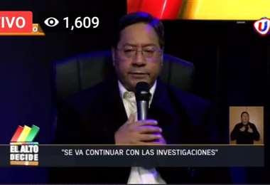 El candidato del MAS, Luis Arce.