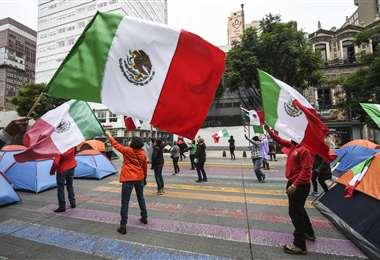 Protesta en Ciudad de México. Foto AFP