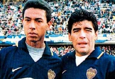 En 1997 coincidió con Diego Armando Maradona en Boca Juniors