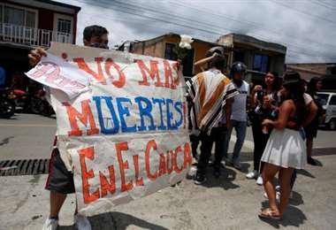 Protesta por la violencia en Colombia. Foto El Tiempo