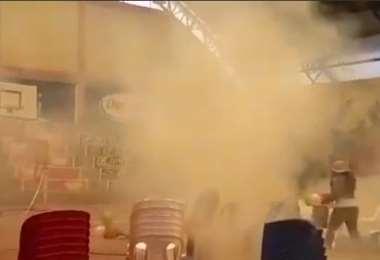 Momento de la explosión de los gases (Fotos: MAS)