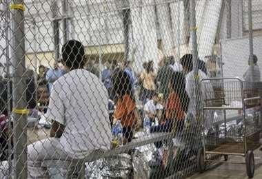 Un centro de detención migratorio en EEUU. Foto Internet