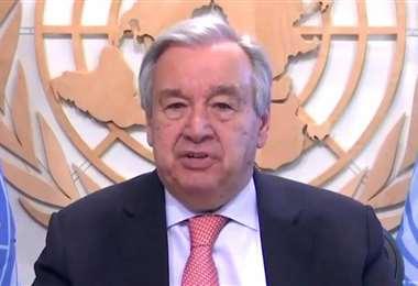 El titular de la ONU. Foto Internet