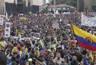 Protestas en el día del paro nacional. Foto Internet