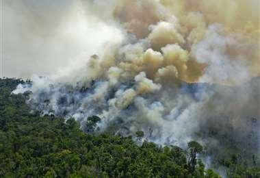Grandes incendios se registran en la región de Pará. Foto AFP