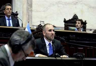 Guzmán presentó el presupuesto en el Congreso. Foto Internet