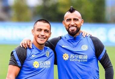 Alexis Sánchez y Arturo Vidal, los chilenos del Inter. Foto: internet