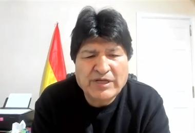 El expresidente Morales I captura.