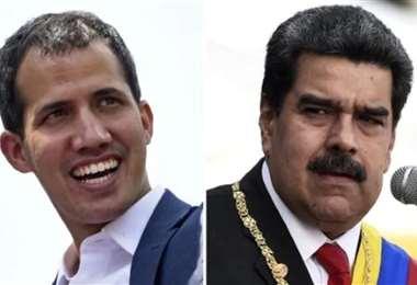 Guaidó y Maduro. Foto AFP