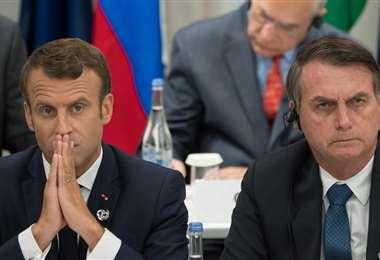 Macron y Bolsonaro enfrentados por el acuerdo con Mercosur. Foto Internet