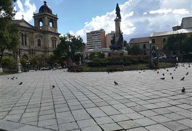 Plaza Murillo de la ciudad de La Paz.