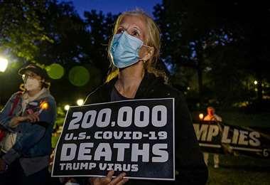 Vigilia por los fallecidos por Covid-19, en Nueva York. Getty Images