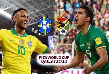 Neymar y Martins, figuras de Brasil y Bolivia, respectivamente. Foto: internet
