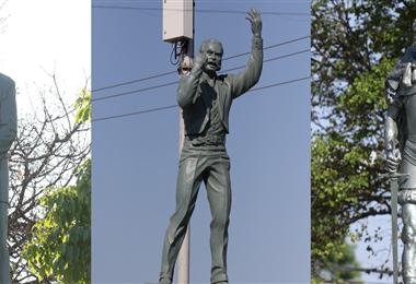 Estatuas de próceres en Santa Cruz