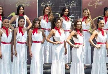 Las 16 candidatas a Miss Santa Cruz en la elección de chica Amaszonas