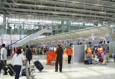 El aeropuerto internacional Jorge Chávez de Lima. Foto Internet