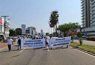 Productores rumbo al Palacio de Justicia (Fotos: Anapo y Néstor Lovera)