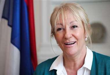 Carolina Cosse lidera las encuestas dentro del FA. Foto Internet