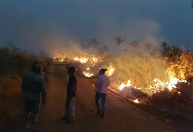 Detienen a 3 comunarios por provocar incendios. Fotos: Cortesía ABT