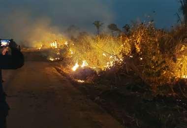 El fuego en San Ignacio I EL DEBER.
