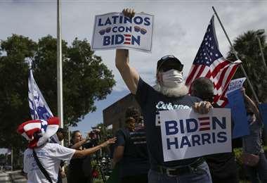 Partidarios de Biden en Florida. Foto AFP