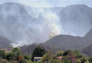 Incendio en el cerro Sararenda, Camiri