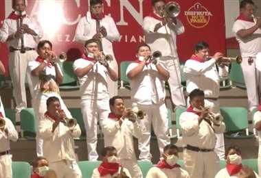 Más de 150 músicos reunió Paceña para festejar a Santa Cruz
