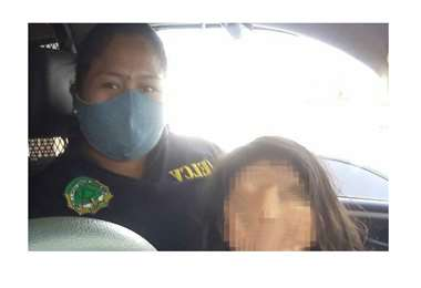 La Policía rescató sana y salva a la menor