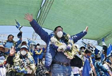El presidenciable del MAS, Luis Arce. Foto: Prensa MAS