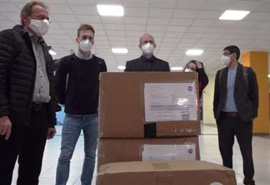 Parte del equipo que llegó a Bolivia /Foto: Ministerio de Salud