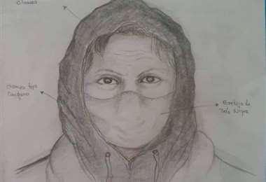 El identikit elaborado por la Policía de la raptora de la bebé