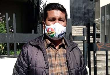 Agustín Mamani es el presidente de Conamype