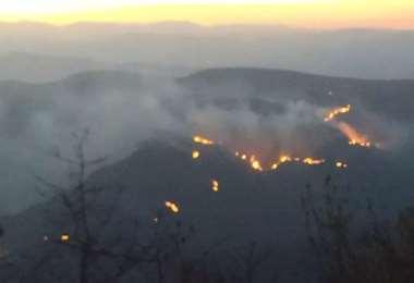 Imagen de las últimas horas en la zona afectada. Foto: Correo del SUr