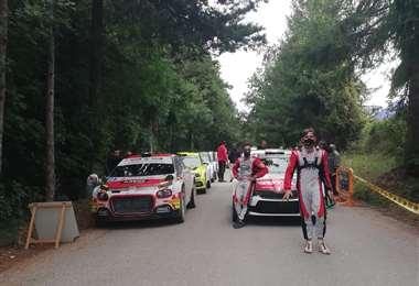 Bulacia en la largada del rally Adriático, que se corrió este domingo. Foto: M. Peña