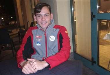 Marco Bulacia, piloto cruceño que correrá hoy en Italia. Foto: Marlene Peña