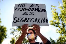 Crece el descontento social por el confinamiento de varios barrios en Madrid