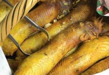 El cogote relleno es una de las ofertas culinarias más ricas y típicas de Santa Cruz