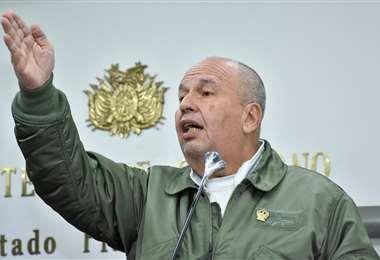 El ministro de Gobierno, Arturo Murillo.