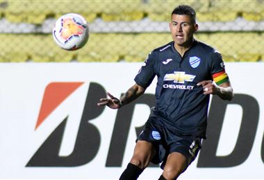 Arce disputando un partido con Bolívar. Foto: Facebook Juan Carlos Arce