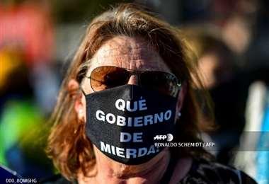 Las protestas contra el gobierno continúan. Foto AFP