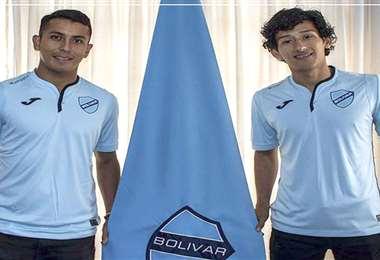Roberto Fernández (Camiri) y Víctor Ábrego (San José), dos provincianos de Bolívar.