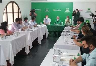 Reunión nacional del partido de Jeanine Añez (Foto: Hernán Virgo)