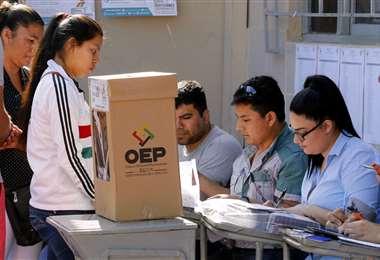 En Santa Cruz habrá más de 54.000 jurados electorales. Foto: Jorge Gutiérrez