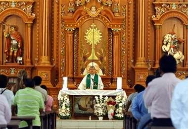 Este domingo en la Iglesia San Andrés (Foto: Ricardo Montero)