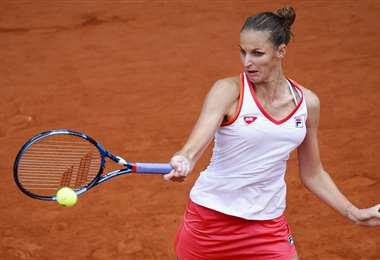 Karolina Pliskova, en plena acción.Foto: AFP