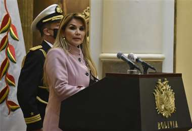 La presidenta Jeanine Áñez I APG Noticias.