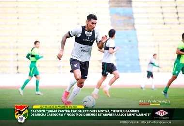 La selección entrenó este lunes en el Hernando Siles. Foto: FBF