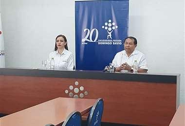 Autoridades de la DDE y de la UPDS informan del convenio