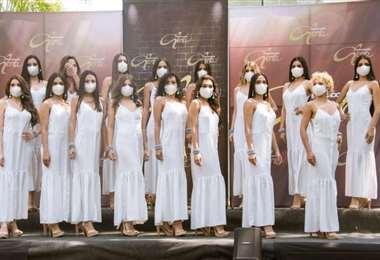 Ellas son las 16 aspirantes al título de Miss Santa Cruz 2020