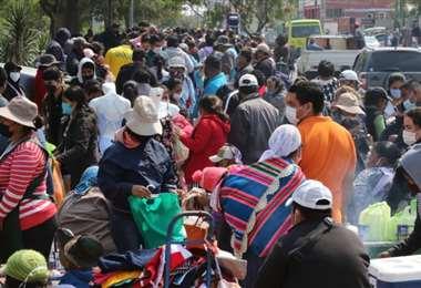 Así se vió la Feria Barrio Lindo en el segundo día de posconfinamiento. Foto: Hernán Virgo